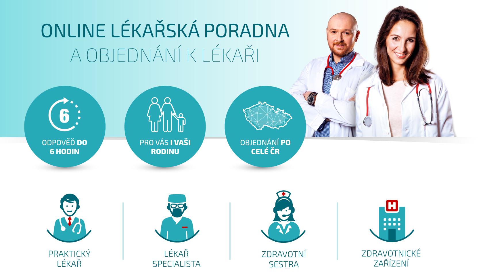 Online lékařská poradna a objednání - zaměstnanecký benefit
